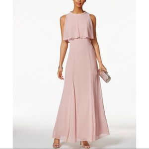 Mauve Embellished Long Dress